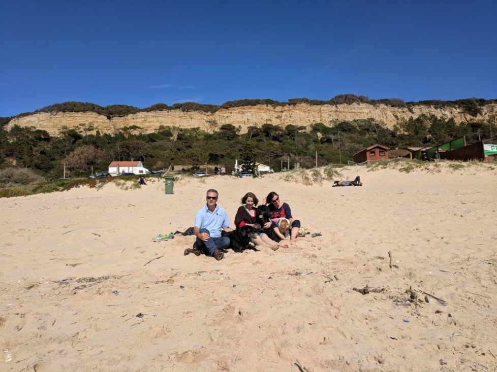 Family snap on the Costa da Caparica