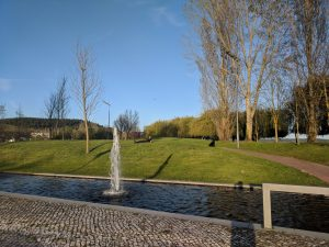 Park and fountains at Vila Nova da Barquinha