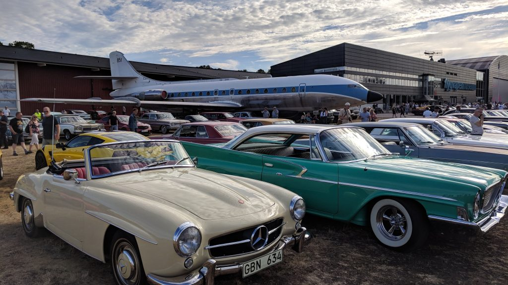 Classic cars at the Swedish Air Force Museum (Flygvapenmuseum)