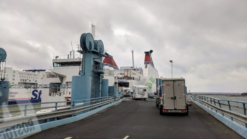 Getting on the ferry at Trelleborg