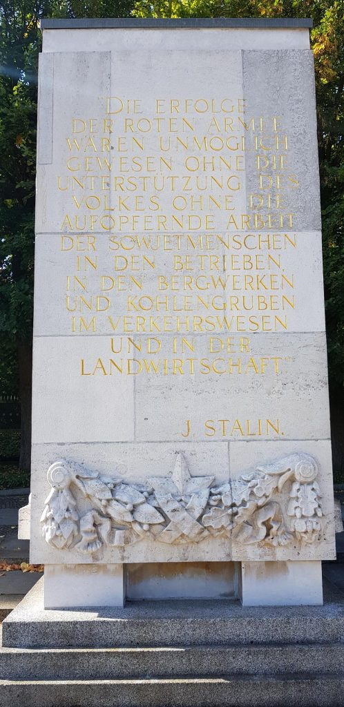 Remembrance words from Stalin