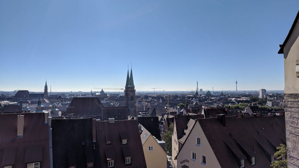 View from the castle over Nuremburg old town