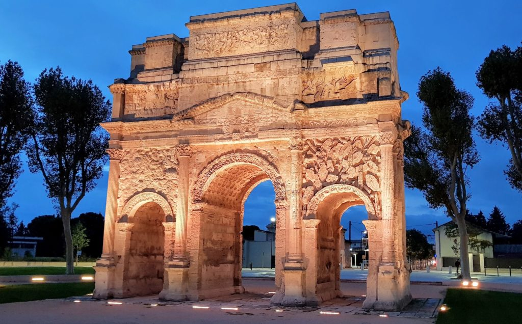 Roman Triumphal Arch, Orange. Not a bad view to wake up to!