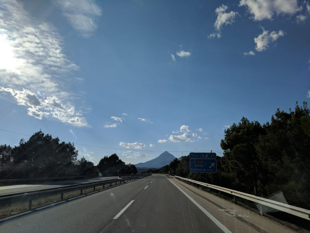 On our ill-fated day driving towards Altea