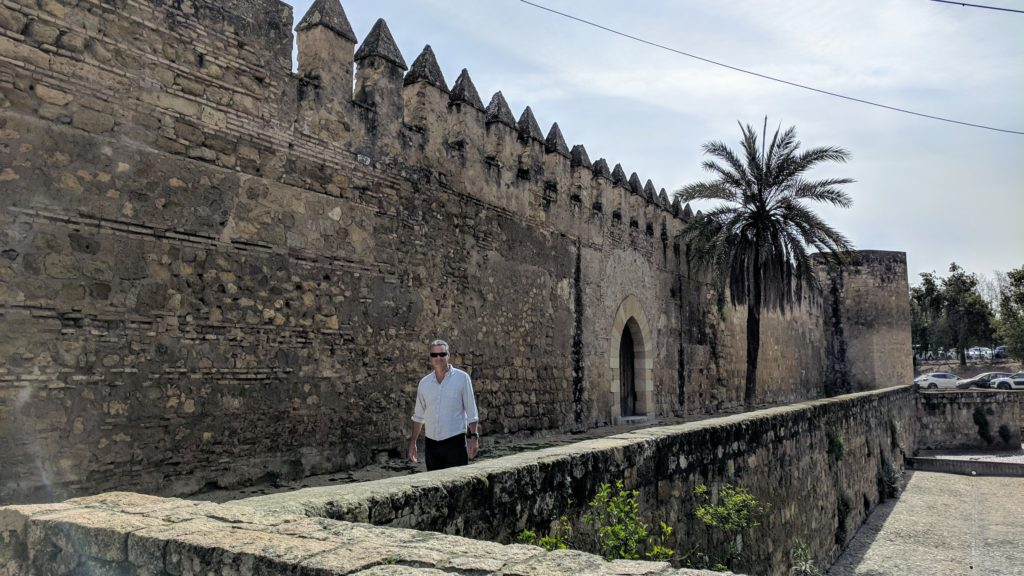 The old city walls of Cordoba