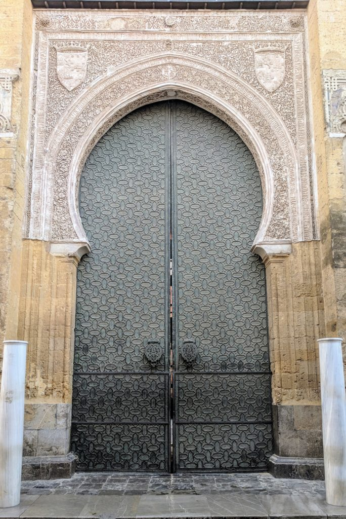 One of the huge Mezquita doors