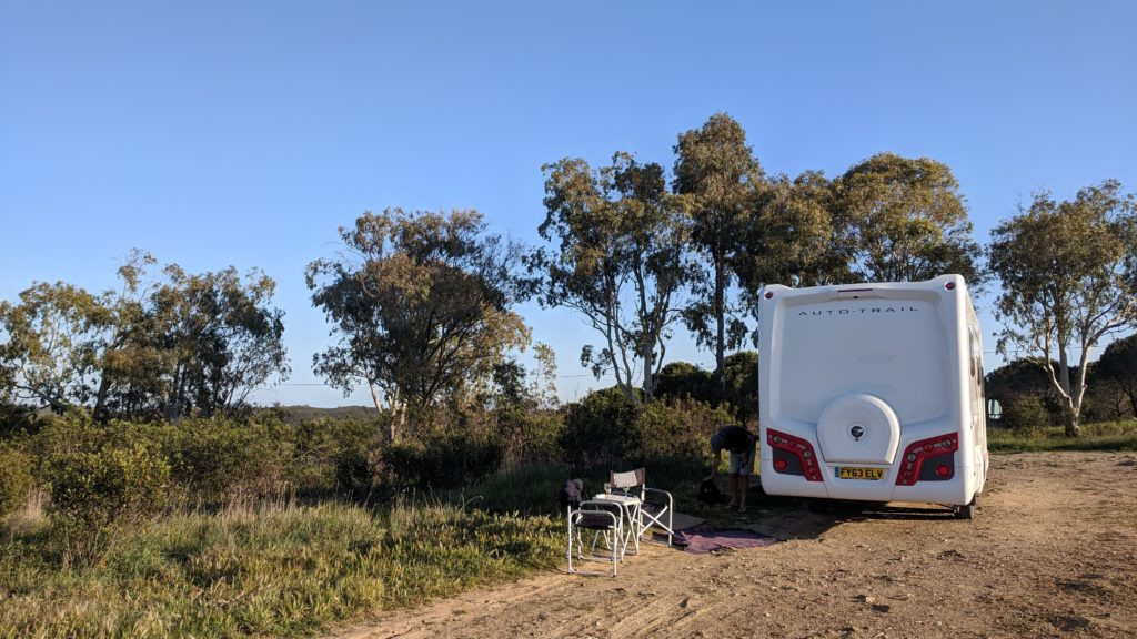 Our tranquil parking spot overlooking the barragem