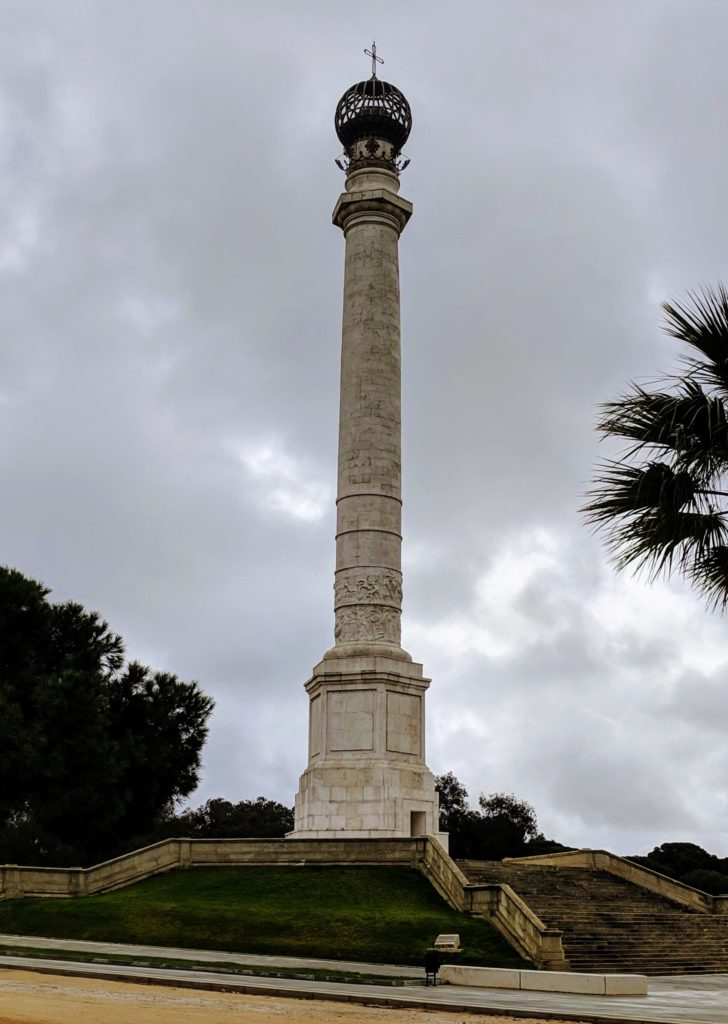 A victory column to celebrate the conquest of the Americas